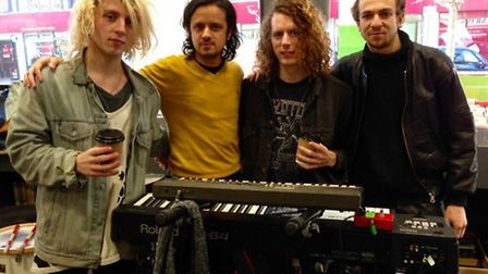 Mystery Jets at David's Music and Bookshop on Friday. Credit: @LGCtownwarden