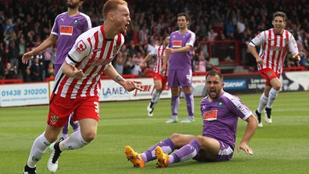 Connor Ogilvie scored against Plymouth earlier in the season.
