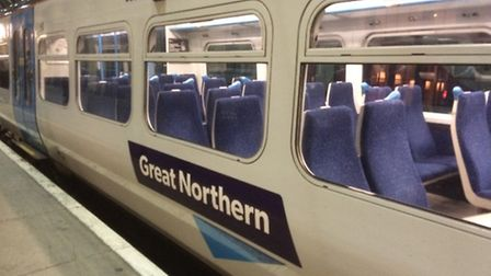 Trains are delayed between Welwyn North and Knebworth this morning