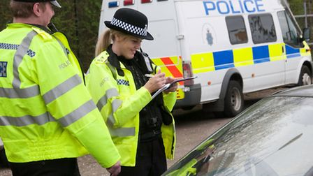 Special constables on duty in Hertfordshire