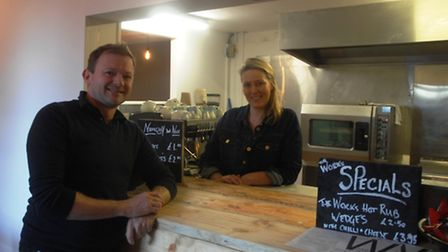 Gareth Davies and Dionne McCreery, owners of the new Works Cafe on Shire Hill