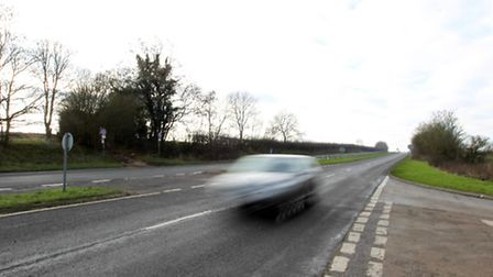 The junction on the A505 where Alan Creamer says there is a lack of signage that causes motorists to