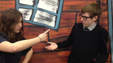 Rachael Robinson and Joe Nelson play the lead roles of Golde and Tevye in the Knights Templar School