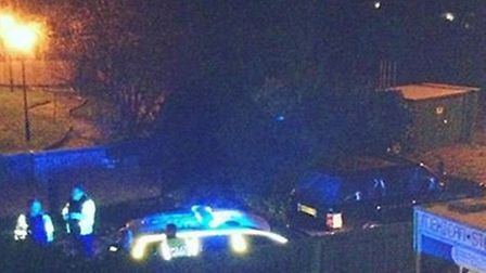 Police arrested two men after a police chase ended in Hitchin this morning
