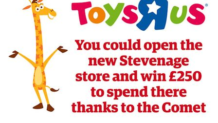 Toys R Us opens its new Stevenage store next week