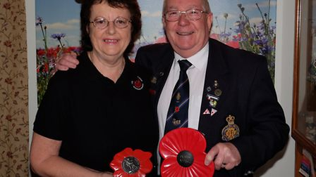 Pat and Richard Mott have been the Stevenage Poppy Appeal organisers for the past seven years and wi