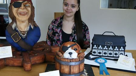 Laura Loukaides with her award-winning cakes.