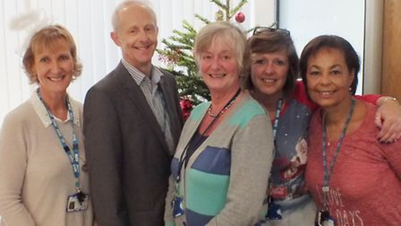 Hertfordshire Community NHS Trust has donated £574 to the Hertfordshire Society for the Blind, follo