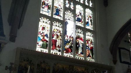The stained glass windows at St Mary's Church