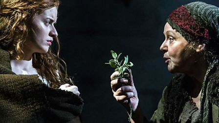 Hannah Hutch (Ann) and Amanda Bellamy (Jane) in Jane Wenham: The Witch of Walkern. Picture by Richar