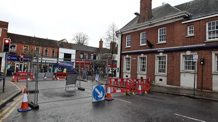 Brand Street is closed due to a small sinkhole.