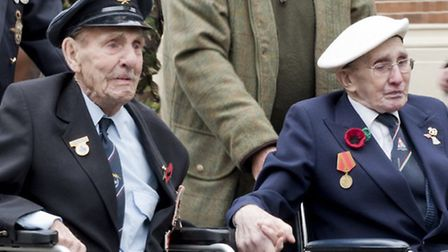 The two gentleman in question are (on left) Mr Ron Liversage , ex RAF, (Served 1937 -1970) ex Saffro