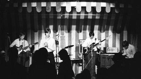David Bowie performs with The Buzz, 1966