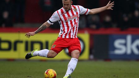 Luke Wilkinson went close a couple of times for Stevenage