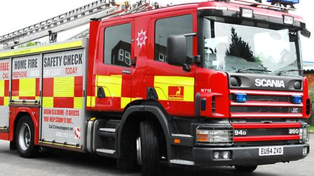 A person was taken to hospital this morning after a garage fire in Letchworth.
