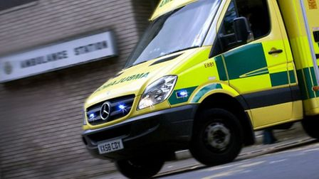 A woman in her 40s and a teenager were taken to hospital on Friday after a car left in gear in Stotf