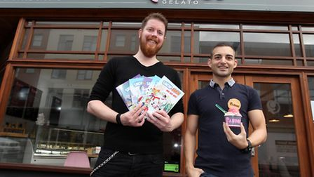 Fabio's Gelato is holding a competition with local author Danny Pearson and encouraging kids to draw