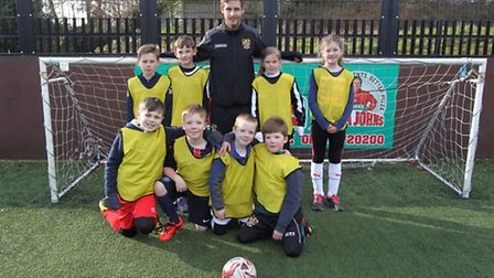 Adam Marriott takes a coaching session at Stevenage Football Academy