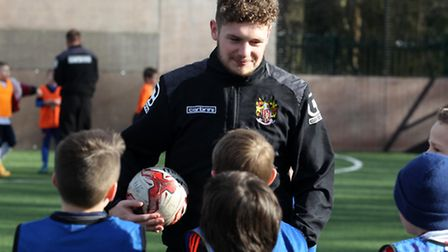 Ben Kennedy takes a coaching session at Stevenage Football Academy