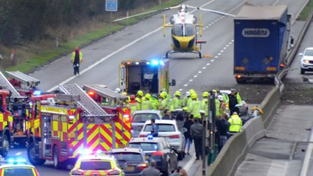 There were 192 crashes on the A1(M) between Stevenage and Baldock last year