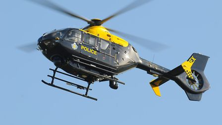 A police helicopter was sent out to search for three people who fled after a car was stopped in York