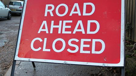 Bedford Road in Hitchin is currently closed