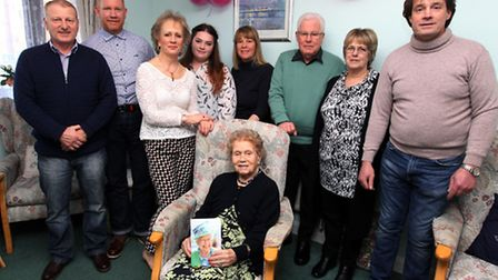Betty Small from Stevenage celebrates her 100th Birthday with her family.