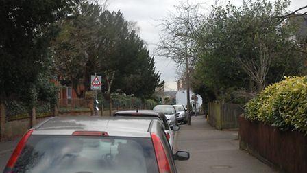 Cars parked in Mount Pleasant Road, which is one of the streets facing new restrictions