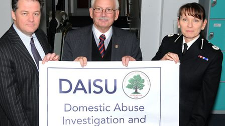 Herts police and crime commissioner David Lloyd, County Hall cabinet member Councillor Richard Thake