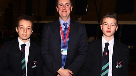 Max Payne, Mark Lewis from Thomas Alleyne Academy and Tom Dunford