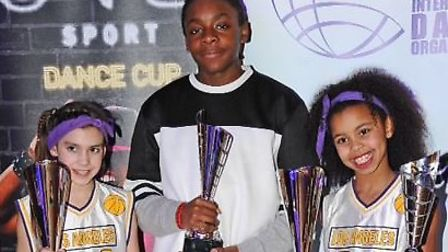 Betsie, Tyresses and Chephra and their haul of trophies