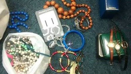 Police have released this image of jewellery which was discovered in Croft Lane in Letchworth.