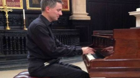 Alan Dorn from Codicote plays as part of the Benslow Music afternoon series