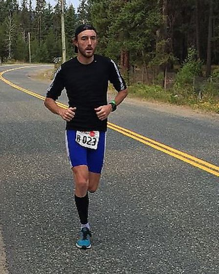 Hitchin's Ross Welton at the double marathon stage of his previous Ultraman race.