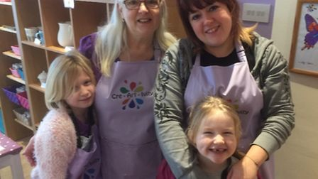 Amanda Smith, her mum Helen Young and her daughters Holly and Lucy all help to make the family-run C