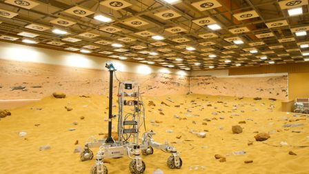 The Mars Rover built at Airbus in Stevenage
