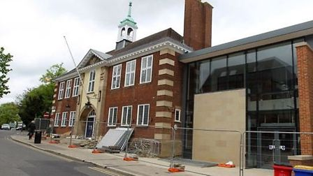 Hitchin Town Hall is set to open.