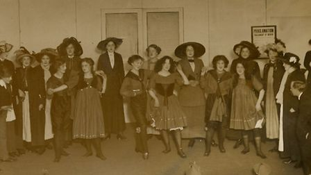 A suffragette-themed play put on by staff of the Spirella Company, called 'When Eve Reigned', which