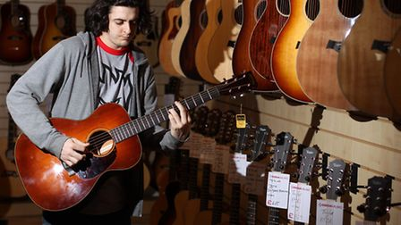 Kelvin Davies, sales at Coda Music, pictured in their new acoustic centre, Old Town, Stevenage
