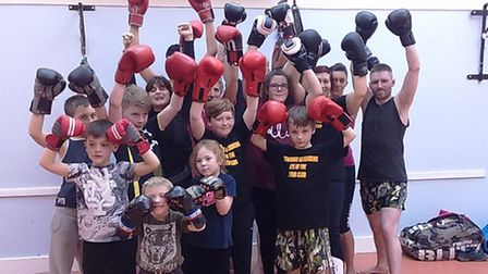Memebers of the self defence class at Bedwell Comminity Centre