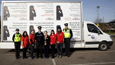 The Crimestoppers ad van will be in Hitchin, Letchworth and Baldock tomorrow.