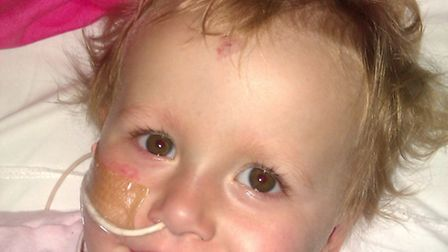 Tiegan fought a brave battle with leukaemia but died just after her second birthday.