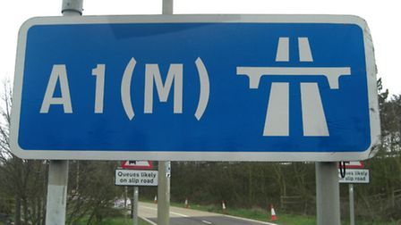 A spoof news article suggested Junction 8 of the A1(M) could be renamed after the Queen