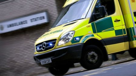 A road between Aston and Stevenage was blocked for two hours last night after a driver overturned hi