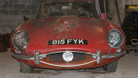 1963 Jaguar E-Type Series 1 Fixed Head Coupe barn find (COYS auctioneers)