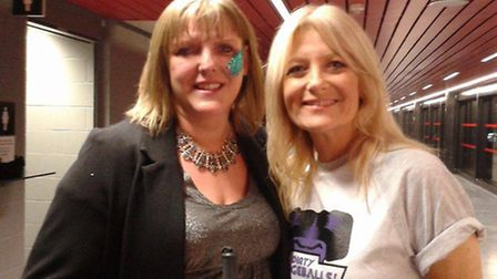 Sam Tracey with Gaby Roslin