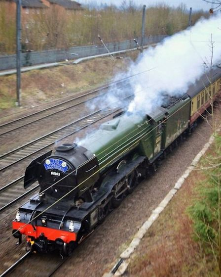 The Flying Scotsman travelling through Hitchin today. Picture: David Atkins