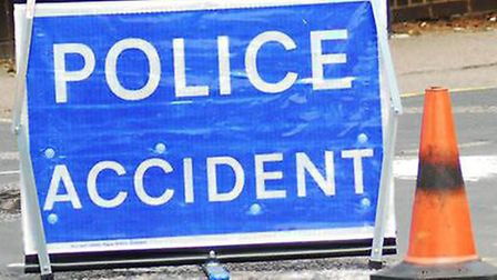 An accident has closed the B184 Thaxted Road in both directions at Howlett End