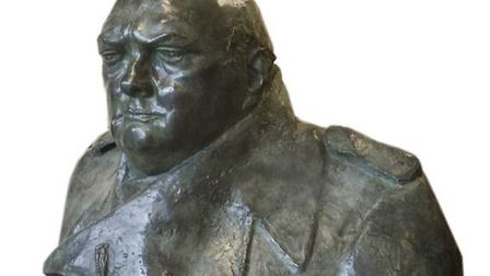 The Winston Churchill bust, which will go on sale at Sworders in Stansted in April