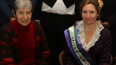 Author Ros Connelly and actor Emma Spearing